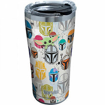 Star Wars The Mandalorian Helmets and Faces 20 oz. Stainless Tervis® Tum... - $34.98