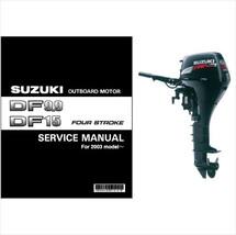 Suzuki DF9.9 DF15 Outboard Motor Service Repair Manual CD ..- DF 9.9 15 - $12.99