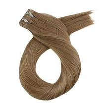 Moresoo 20 Inch Tape in Extensions Remy Human Hair Glue in Hair Extensions Human image 2