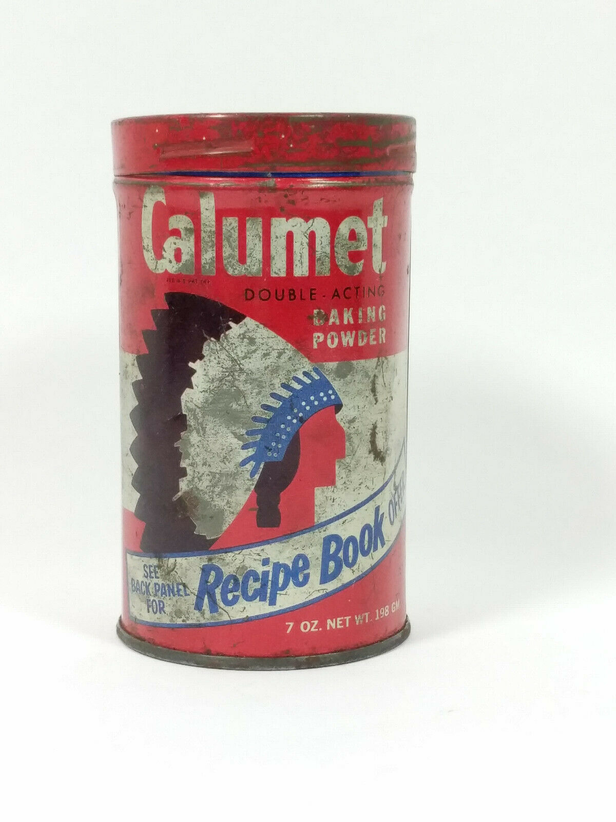 Primary image for Vintage Calumet Baking Powder Tin 14 Ounces General Foods Kitchens