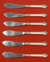 Silver Plumes By Towle Sterling Silver Trout Knife Set HHWS 6pc Custom - $429.00