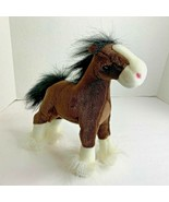 Gund Dale Brown clydesdale White Nose Paws 10 in lgth plush stuffed anim... - $11.29