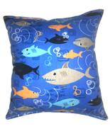 Sharks Pillow Shark Week Cartoon Sharks Pillow Cute Soft Flannel Pillow ... - $9.99