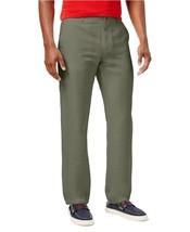 Tommy Hilfiger Men's Custom-Fit Linen-Blend Flat-Front Pants , 38X30, MSRP $89 - $44.54