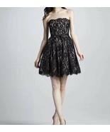 Robert Rodriquez Neiman Marcus for Target Black Lace DRESS Strapless Siz... - $46.75