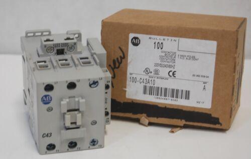 Allen Bradley 100C43A10 Contactor 3 Main Poles Series A
