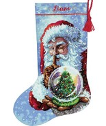 Dimensions Santas Snow Globe Christmas Eve Joy Cross Stitch Stocking Kit... - $46.95
