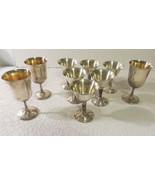 Vintage Plator Spain Silver Plated Wine Goblets Set Of 6 Grapevine Embos... - $25.23