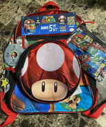 Super Mario School Backpack & Lunch Box Bonus 5 Piece Set - $29.69