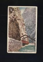 HANGING BRIDGE ROYAL GORGE COLORADO 1917 WHITE BORDER POSTCARD - $7.43