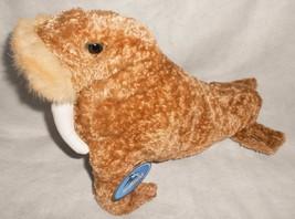 "Sea World Seal Brown White Tusks Plush Stuffed Animal Souvenir 12"" Tags - $17.70"