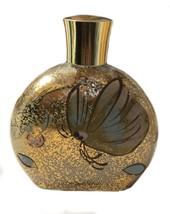 Vintage I. Magnin Cest Toi Hand Body Lotion Glass Bottle Gold Butterfly - $39.59