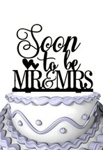 Meijiafei Soon To Be Mr & Mrs Cake Topper-Special Cake topper-Soiree Collection - $19.00