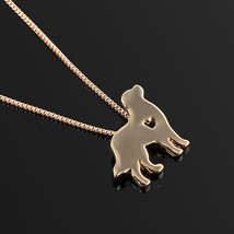 Pet Dog Puppy Gold Retriever Dog Charm Pendant Necklace Women Fashion Gift  - $9.89