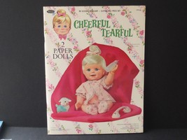 Vintage Cheerful Tearful 2 Cut-out Paper Dolls, 1966 Mattel Original Book - $64.35