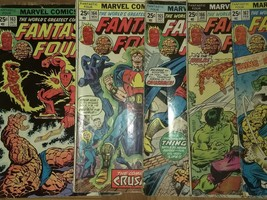 Fantastic four run vol 1 #163-167 nice. Marvel, 1970's bronze - $14.40