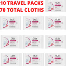 10 Travel Packs Olay Daily Facial Hydrating Cleansing Cloths Grapeseed Extract - $24.74