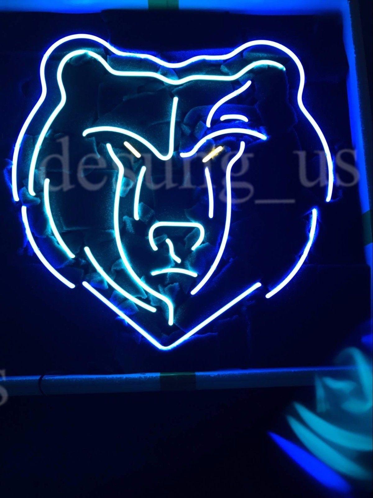 """New Memphis Grizzlies NBA Logo Neon Sign 24""""x20"""" Ship From USA"""