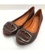 Jeffrey Campbell Croc Embossed Leather Flats Buckle 6 MoreLike 6.5 Villa... - $31.50