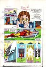 1980's Iron Man 181 original Marvel Comics colorist's color guide comic ... - $99.50