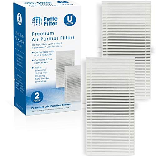 Fette Filter 2 Pack of True Hepa Filters Compatible with HRF201B Honeywell Dual