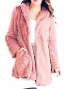 Simply Noelle Fuzzy Faux Fur Jacket Blush Pink Size S/M - $99.99