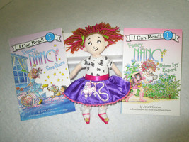 "Fancy Nancy Doll lot, 10"" plush Madame Alexander & 2 new ""I Can Read"" Books - $27.99"