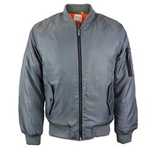 vkwear Men's Multi Pocket Water Resistant Padded Zip Up Flight Bomber Jacket (Sm