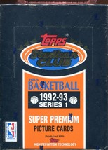 1992-93 TOPPS STADIUM CLUB - SERIES 1 - BRAND NEW SEALED BASKETBALL BOX  - $29.69