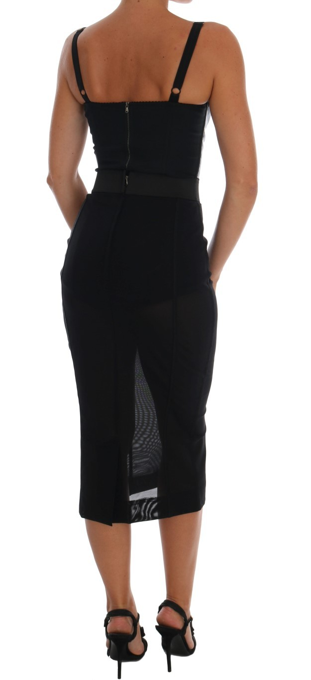 Dolce & Gabbana Black Stretch Straight Pencil Skirt