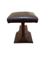 Primitive Vintage Handmade Wood Shoe Shine Stand Stool Post Footrest Foot Rest image 2