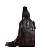 BDF Alligator Men Cross-body & Waist Bag Fashion Messenger Bag Handbag - $57.97