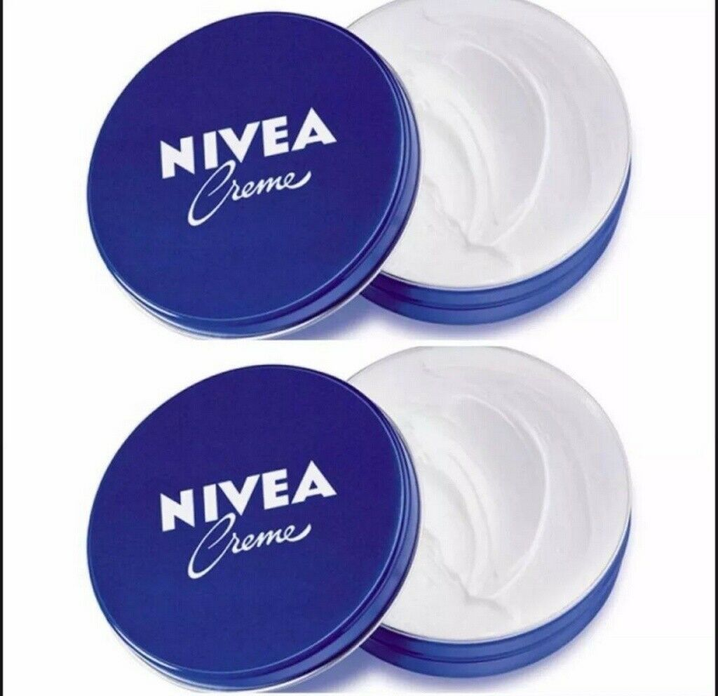 Primary image for 2 Can of 60 mL/ 2 Oz NIVEA CREAM Original Skin Hand CREME moisturizer Metal Tin