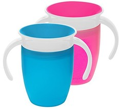 Munchkin Miracle 360 Trainer Cup, Pink/Blue, 7 Ounce, 2 Count - $15.95