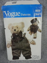 "Clothes for Vogue 23"" Bear Linda Carr Vogue 8659 Cut and Complete - $6.00"