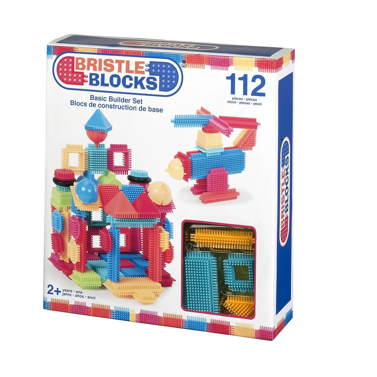 Bristle Blocks Toy Building Blocks for Toddlers (112 pieces New) Battat Toys