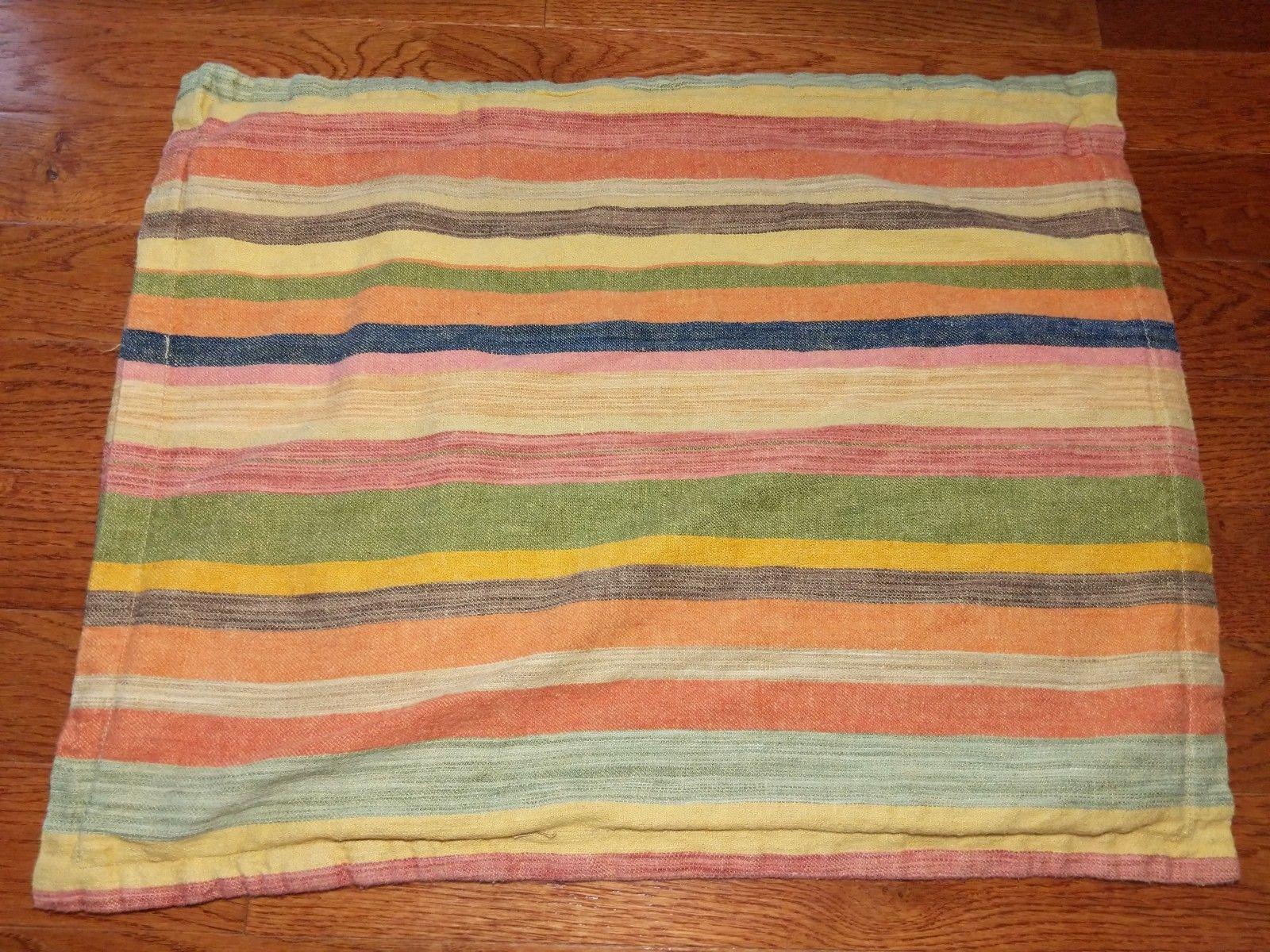 Pottery Barn Logan Stripe Linen Cotton Blend Standard Size