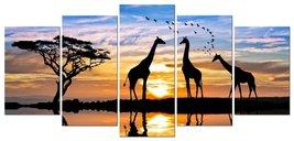 5 panels Modern Stretched and Framed Landscape Giclee Canvas Prints Suns... - $69.95