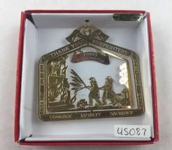Nations Treasures Forks Washington Firefighters Brass Metal Souvenir Ornament - $15.00