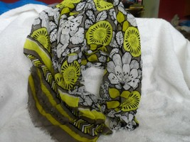 Vera Bradley soft fringe Scarf in Citron pattern - $25.00