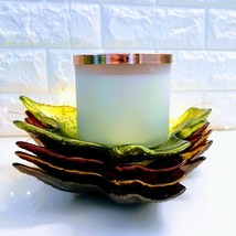 Falling Leaves: 3-Wick *Bath & Body Works* Glass Leaves Candle Holder Plates - $7.47