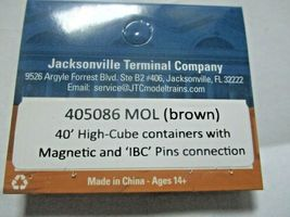 Jacksonville Terminal Company # 405086 MOL (brown) CGM 40' High-Cube Container N image 4
