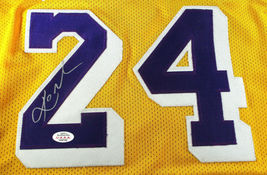 KOBE BRYANT / LOS ANGELES LAKERS / AUTOGRAPHED LAKERS YELLOW CUSTOM JERSEY / COA image 3