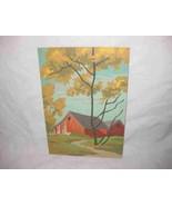 "Nice Vintage 7"" X 10"" Paint By Number Landscape Scene Barn - $43.35"