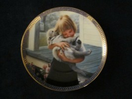PUPPY LOVE collector plate KEVIN DANIEL - DOG PUP - $29.95