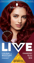 Schwarzkopf Live Hair Dye Intense Moisture Colour Red Cranberry Bliss M08 - $14.89