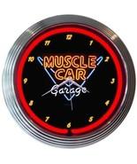 "Muscle Car Garage Neon Clock 15""x15"" - $59.00"