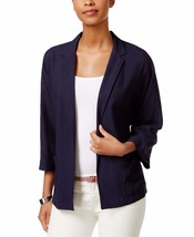 1071-2 Tommy Hilfiger Navy Women's Open Front 2-Pocket Jacket Blue 12 $98 - $27.76