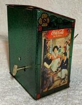 Old 1981 Coke Coca Cola X'max Tin Tank Cans Desk Table Music Box + Quartz Clock image 3