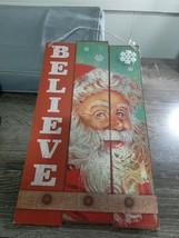 (1) Christmas House Believe in santa Sign- Santa Wall Decor. New - $9.85